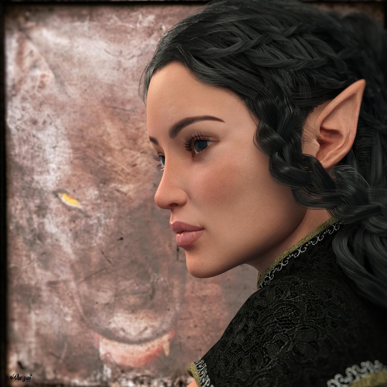 IRay: NimueHair, Morphs und Skins von verschiedenen Charakteren, Capricornia